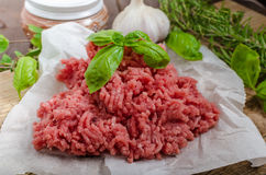 Minced beef raw Royalty Free Stock Photography