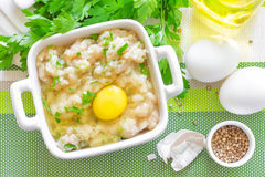 Minced chicken Royalty Free Stock Images