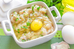Minced chicken Stock Photography