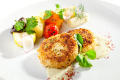 Minced Fish Cutlets Royalty Free Stock Image