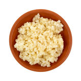 Minced garlic in a small bowl Royalty Free Stock Image
