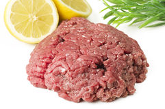 Minced horse meat Royalty Free Stock Photos