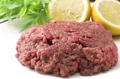 Minced horse meat Stock Photo
