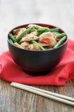 Minced kurczak z warzywami, Tajlandia Obraz Stock