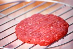 Minced lamb on the grill Stock Images