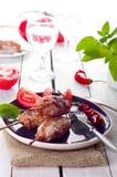 Minced lamb kebab Royalty Free Stock Photo