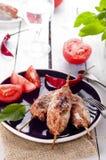 Minced lamb kebab Stock Images