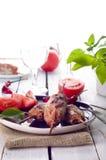 Minced lamb kebab Royalty Free Stock Images