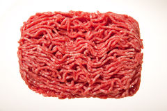 Minced meat. Istolated on white Stock Photos