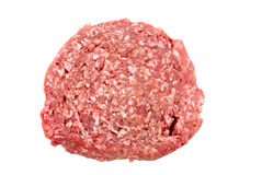 Minced meat. Raw  minced meat  white background Royalty Free Stock Image