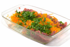 Minced meat. With parsley and carrots Stock Images