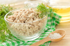 Minced meat. In the glass bowl Royalty Free Stock Photo