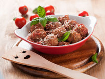Minced meat bal Stock Images