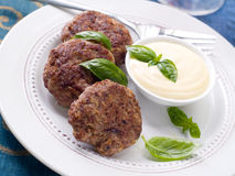 Minced meat ball Stock Images