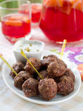 Minced meat ball Royalty Free Stock Image