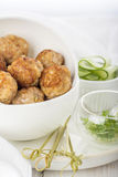 Minced meat ball in bowl Royalty Free Stock Images