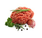 Minced meat ball with herbs Stock Photos