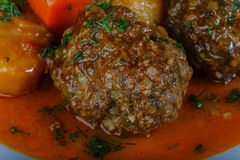 Minced meat balls with potato Stock Image