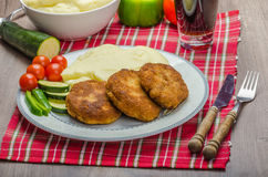 Minced meat in breadcrumbs Royalty Free Stock Photo