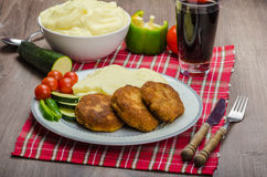 Minced meat in breadcrumbs Royalty Free Stock Image