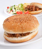 Minced meat burger Royalty Free Stock Photo