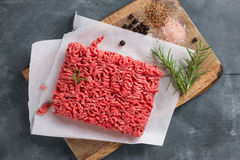Minced meat on butcher pape Stock Photography