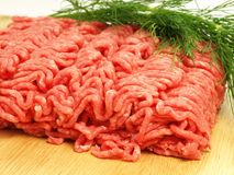 Minced meat, close up Royalty Free Stock Image
