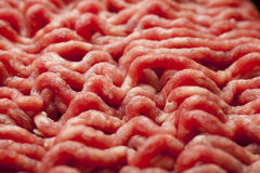 Minced Meat Close-Up. Close Up of Raw Minced Meat Stock Photo