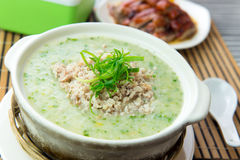Minced meat congee Royalty Free Stock Photo