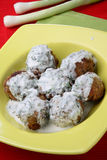 Minced meat fried balls Royalty Free Stock Images