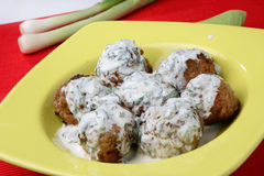 Minced meat fried balls Stock Photo