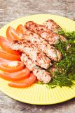Minced meat kebab Stock Photo
