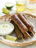 Minced meat kebab Stock Image