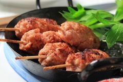 Minced meat kebabs Royalty Free Stock Photography