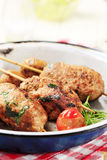 Minced meat kebabs Royalty Free Stock Photos