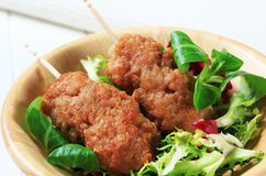 Minced meat kebabs Stock Image