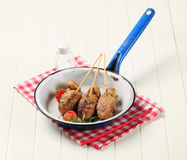 Minced meat kebabs Royalty Free Stock Photo