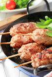 Minced meat kebabs Stock Photography