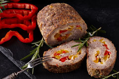 Minced Meat Loaf Closeup Stock Photography