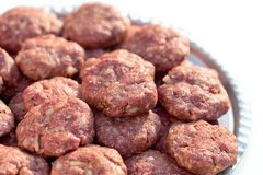 Minced meat meatball royalty free stock image