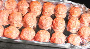 Minced meat, meatballs Stock Images