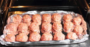 Minced meat, meatballs Royalty Free Stock Photography