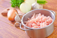 Minced meat Stock Photography