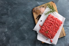 Minced Meat On Butcher Paper Royalty Free Stock Photography