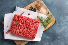 Minced Meat On Butcher Paper Royalty Free Stock Images