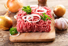 Minced meat with onion Stock Photography
