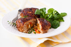 Minced meat patties Stock Images