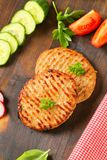 Minced meat patties Royalty Free Stock Photos