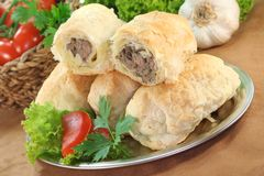 Minced meat pie Stock Images