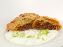 Minced meat in puff pastry Royalty Free Stock Image